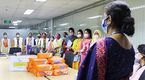Distribution of 5 Lacs Sanitary Napkin on the Eve of Mujib Borsho
